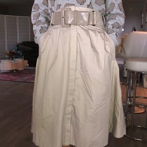 Zara below the knee skirt with a belt and pockets